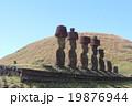 イースター島 モアイ像 遺跡の写真 19876944