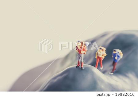 登山者,ミニチュア人形 19882016