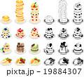 いろいろなパンケーキのアイコン 19884307