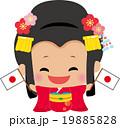 日本国旗を持つ江戸姫 19885828