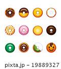 ドーナツ セット お菓子のイラスト 19889327