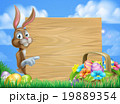 Easter Bunny Sign Background 19889354