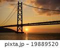 明石海峡の夕日 19889520
