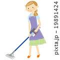 掃除をする主婦 19891424