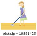 掃除をする主婦 19891425