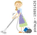 掃除をする主婦 19891426
