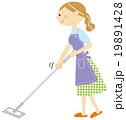 掃除をする主婦 19891428