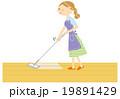 掃除をする主婦 19891429