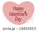 バレンタインデー ハート 鳩 イラスト ピンク 19893653