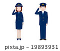 男性・女性警察官の敬礼 19893931