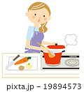 料理 主婦 ベクターのイラスト 19894573