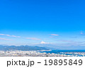 【静岡県】富士山と清水市の街並み 19895849