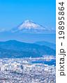 【静岡県】富士山と清水市の街並み 19895864