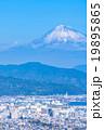【静岡県】富士山と清水市の街並み 19895865
