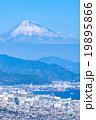 【静岡県】富士山と清水市の街並み 19895866