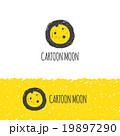 Vector funny cartoon moon logo. Trendy hand drawn 19897290