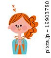 女性 笑顔 人物のイラスト 19903780
