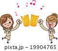 女子会 歓送迎会 新年会 忘年会 乾杯 お祝い ジョッキ 19904765