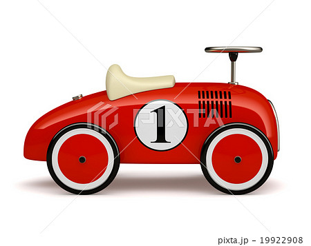 Red retro toy car  isolated on white background 19922908