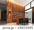 3d render of counter bar  19923095