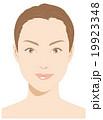 メイク用女性の顔 19923348