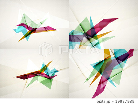 Set of angle and straight lines design abstractのイラスト素材 [19927939] - PIXTA