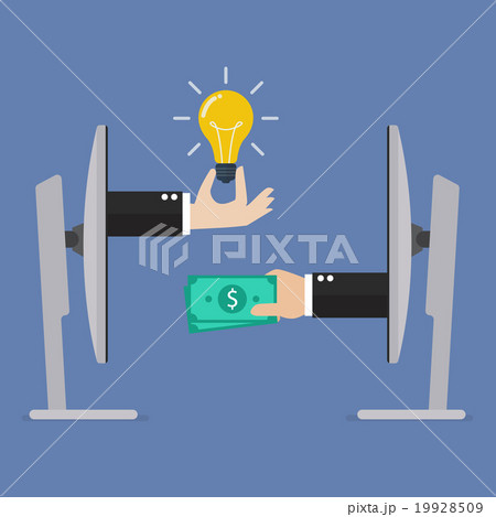 Exchange lightbulb idea and money online