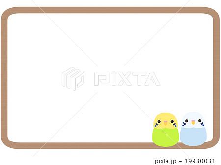 小鳥フレーム インコのイラスト素材 19930031 Pixta