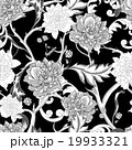 Monochrome seamless pattern with blooming peony 19933321