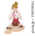 バレンタイン ケーキ 手作りのイラスト 19939041