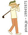 ゴルフ男性 19945975