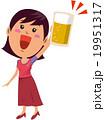 乾杯する女性 19951317