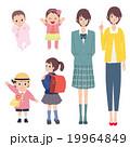 女の子 成長 イラスト 19964849