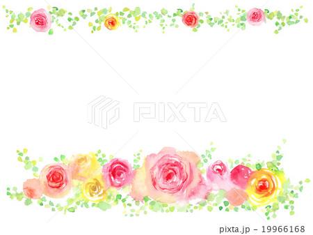 イラスト ばらの花 背景 19966168