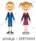 入学式イメージ(小学生男の子、女の子) 19974444