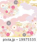背景 和柄 花のイラスト 19975535