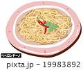 ペペロンチーノ スパゲッティ パスタのイラスト 19983892
