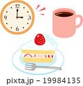おやつ ケーキ コーヒーのイラスト 19984135
