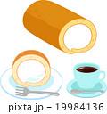 シンプルなロールケーキ 19984136