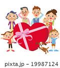ハート バレンタインデー 家族のイラスト 19987124