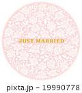 結婚はがき用 招待状 ブーケのような薔薇の円 19990778