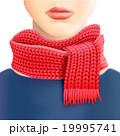 スカーフ 襟巻 襟巻きのイラスト 19995741
