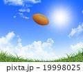 ラグビーボール 青空 陽射しのイラスト 19998025