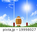 ラグビーボール 青空 陽射しのイラスト 19998027