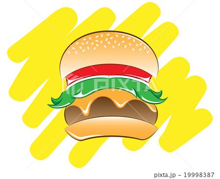 ハンバーガー 19998387