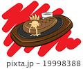 ステーキ 肉料理 食べ物のイラスト 19998388