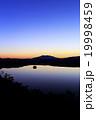 摩周湖 夜明け 湖の写真 19998459