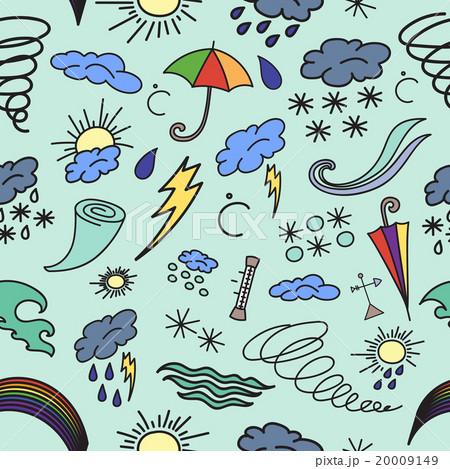 Doodle patern weatherのイラスト素材 [20009149] - PIXTA