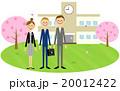 入学式イメージ 校舎(男子高校生) 20012422