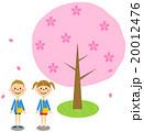 入園式イメージ 桜の木(保育園・幼稚園 男の子、女の子) 20012476